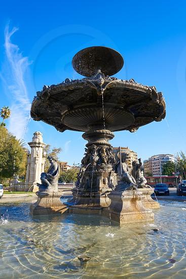 Alameda Albereda fountain of 1878 in Valencia of Spain photo