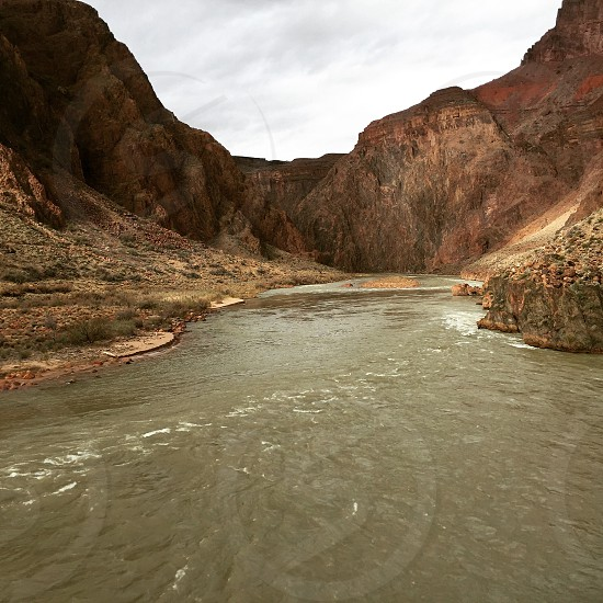 rocky mountain beside the river photography photo