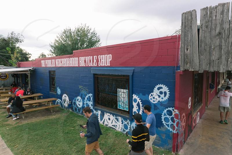 The Peddler Bike Shop in Hyde Park in Austin TX. photo