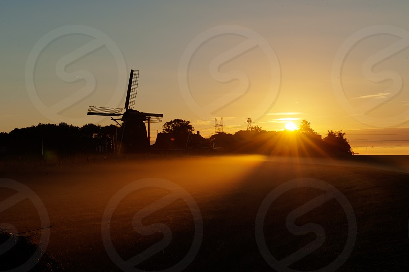 light sun sunlight sunrise windmill sundays photo