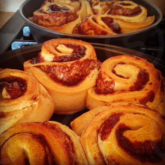 Warm Cinnamon Rolls On A Cold Day photo