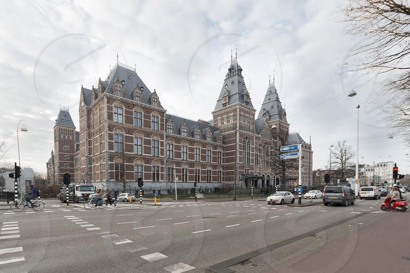 Rijksmuseum - Amsterdam frontal view  museum  photo