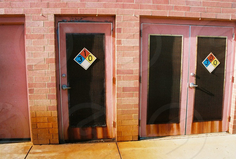 two room doors with numbers photo