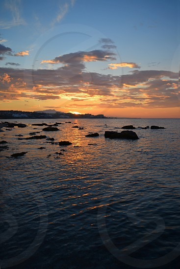 Sunrise on the Spanish coastline at Estepona on the Costa del Sol  photo