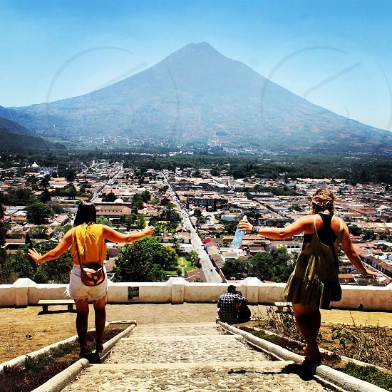 Guatemala volcano adventure climb explore travel friends photo