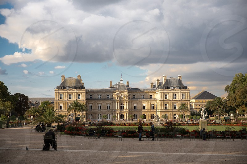 The beautiful Luxembourg Palace in Paris France photo