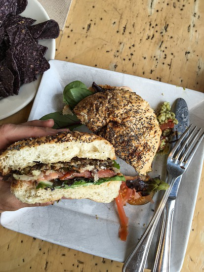 Wild rice burger photo