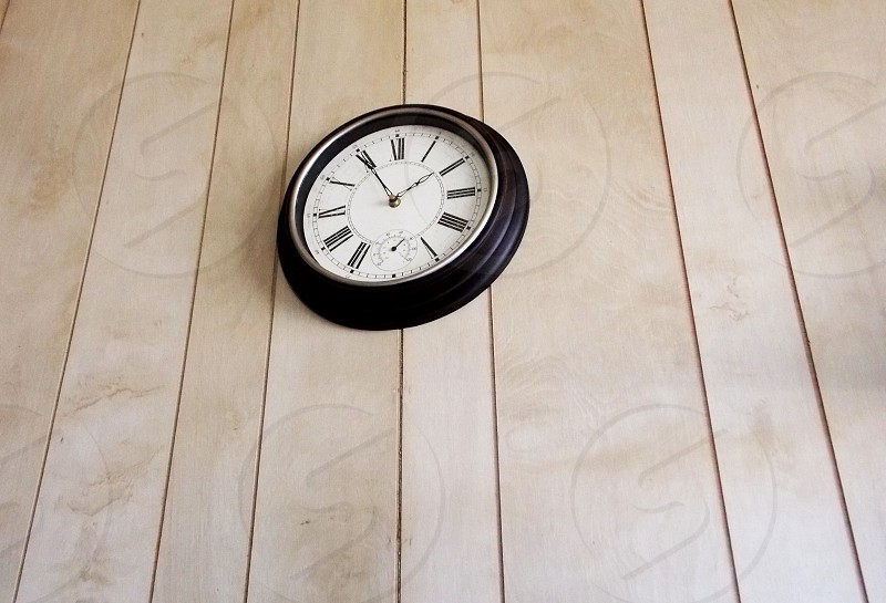 Clock black time gray 155 photo