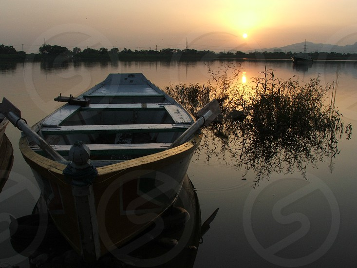 Glorious sunset in the backdrop at the Rawal Lake in Islamabad Pakistan. photo