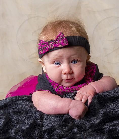 Baby headband blue eyes  photo