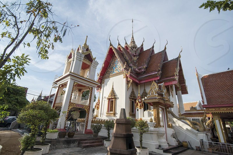 the wat Burapharam in the city of Surin in Isan in Northeast Thailand.  Thailand Isan Surin November 2017 photo