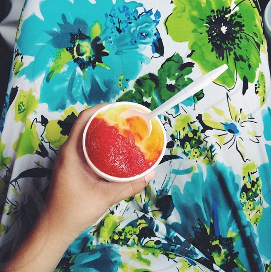 Chamoyada smoothie flower print dress photo