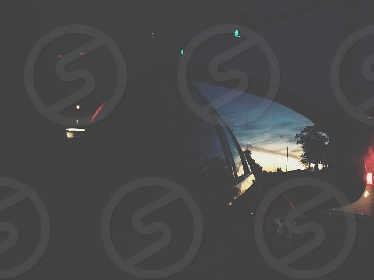in the setting sun  photo