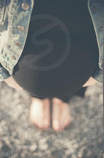 pregnant woman macro photography photo