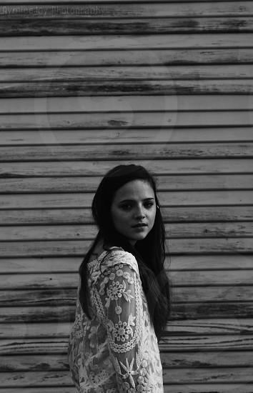 Black and white symmetrical  photo