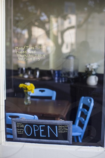 open text on chalkboard signage photo