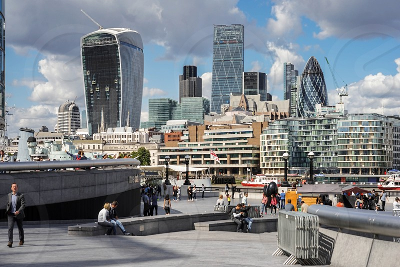 View of modern architecture in the City of London photo