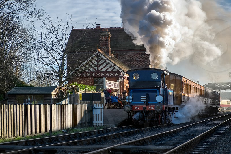 Bluebell leaving sheffield Park Station photo