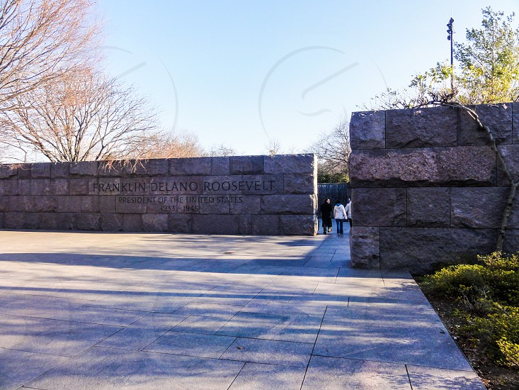 Franklin Delano Roosevelt Memorial - Washington DC USA photo