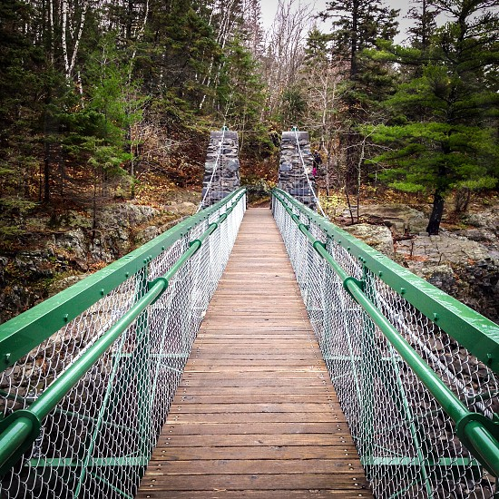 Swinging bridge Jay Cooke state park Minnesota photo