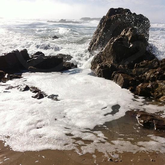 beach rock view photo