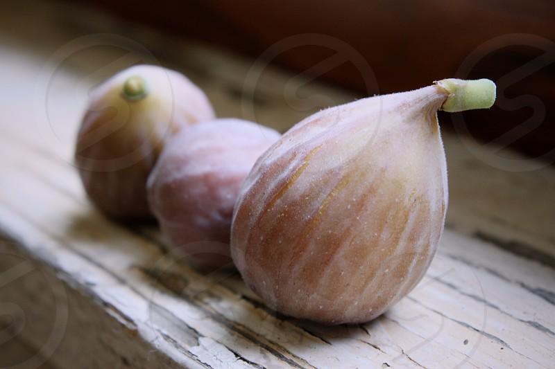 figs fruit three weathered worn photo