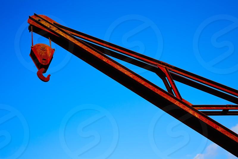 Steel crane old vintage industrial in Santiago de Compostela Galicia photo