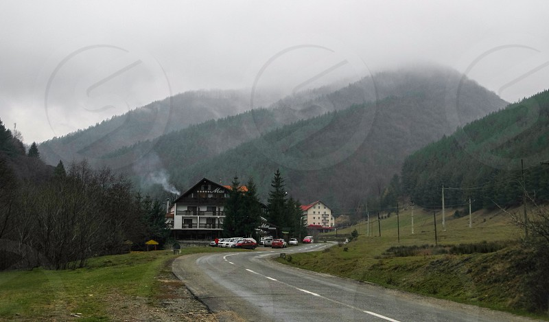 Foggy - Rasinari village area Sibiu county Romania 650m 22-11-2014 photo
