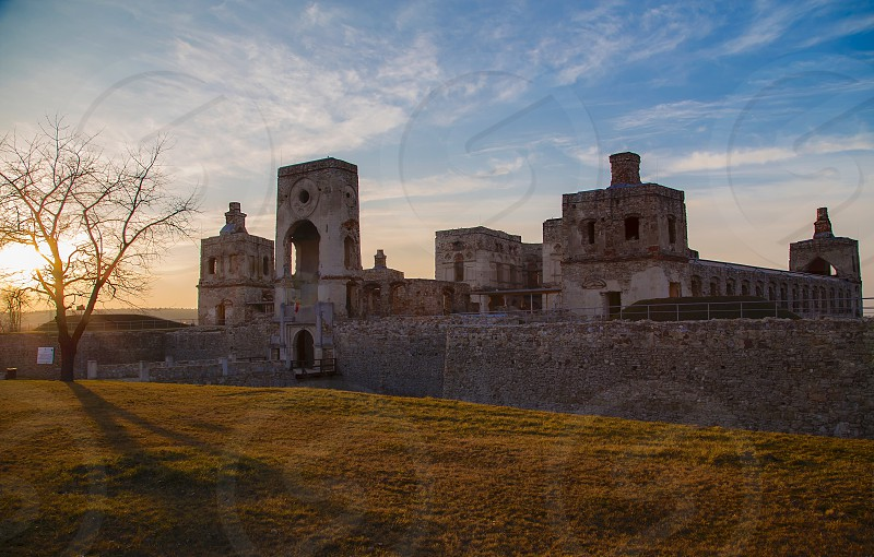 Poland architectural ruins historical history beautiful castle  photo