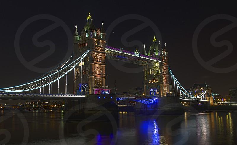 London bridge at night photo
