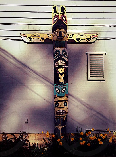 Totem pole rainier national forest national forest greenwood off the path pnw washington Pacific Northwest native Native American sculpture carving creative rainier mount Rainer crystal mountain photo