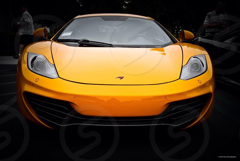 Orange car mclaren beauty stunning photo