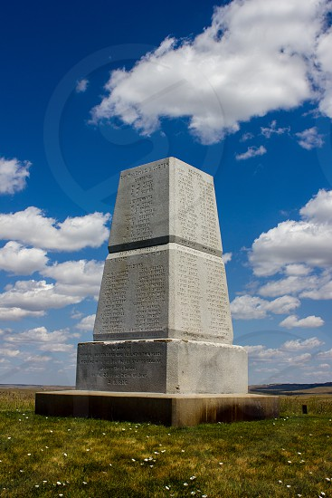 Little Bighorn Custer Monument photo