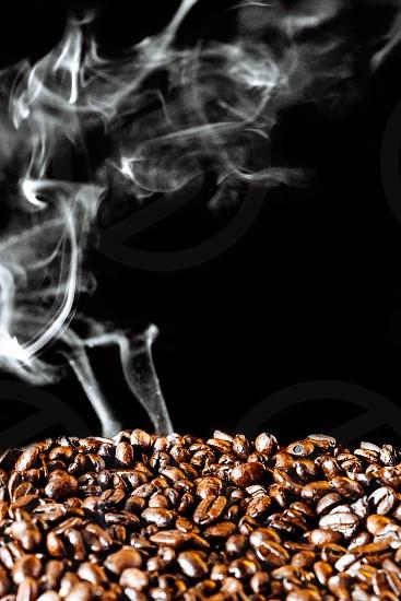 Roasting coffee beans photo