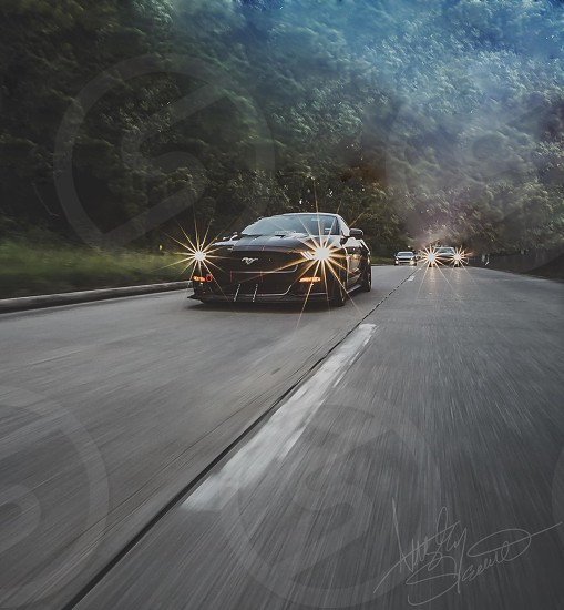 Cars car ford mustang s550 rolling Photoshop art creation mustangs wilderness roads open road muscle cars sports cars race Racecar racing vehicle vehicles passion photo