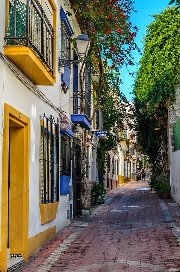 marbella old town spain andalucia house houses colors town village flowers photo