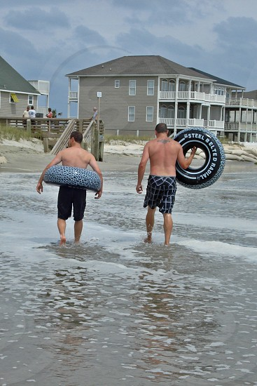 Successful day inner tubing the hurricane. photo