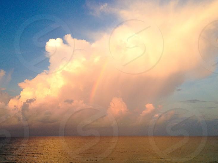 Seagrove Beach FL rainbow over the ocean sunrise landscape photo