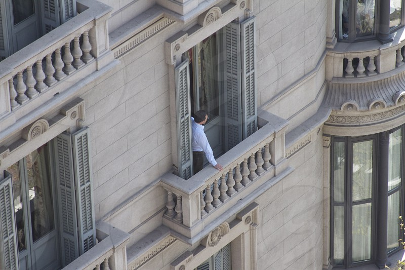 Balcony below balcony  photo