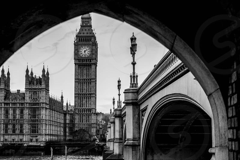 Gloomy London big ben photo