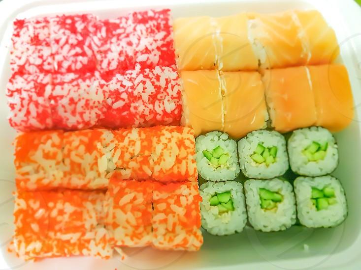 Photo By Liliia Kuznetsova Sushi Food Rolls Kitchen Dish Japanese Food Tasty Rice Nori Sushimi Dish Cooking