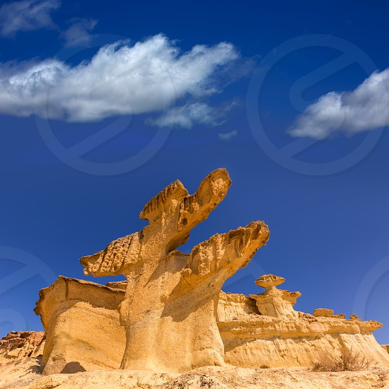Bolnuevo Mazarron eroded sandstones in Murcia spain photo