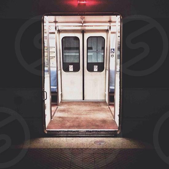 white train door photo