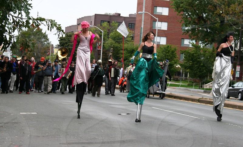 three women walking photo