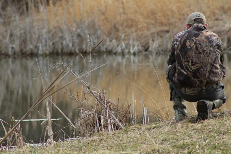 Pond hunting scouting outdoors photo