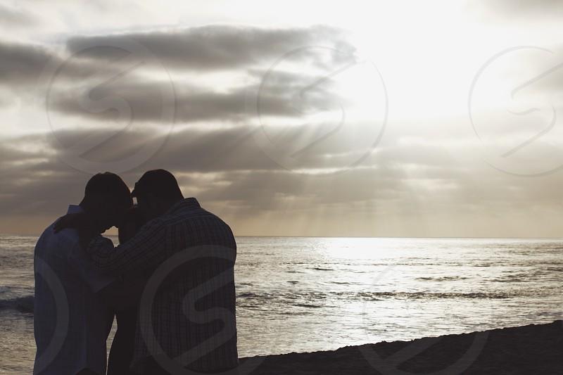 Companionship friends beach together photo
