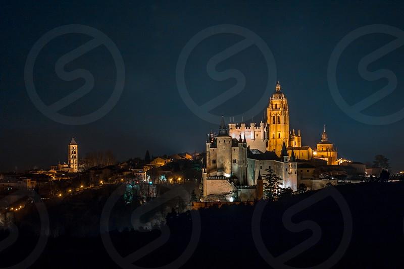 The skyline of Segovia (Spain) photo