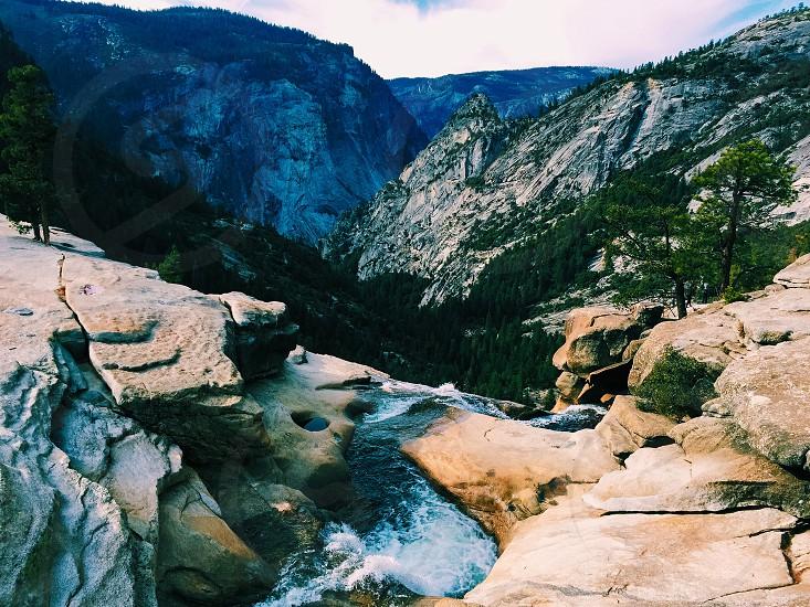 Top of Nevada Fall in Yosemite CA. November 2014 photo