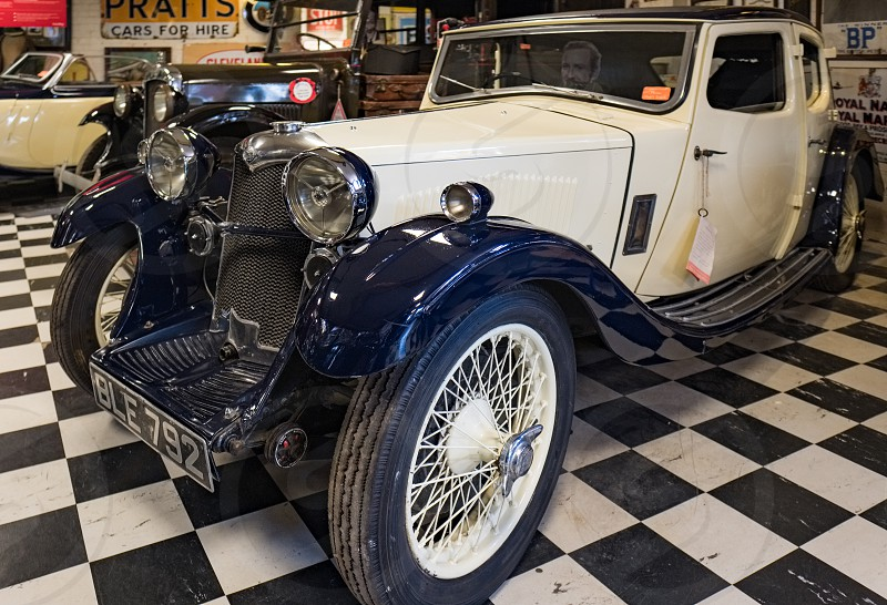 Riley Kestrel 1934 in the Motor Museum at Bourton-on-the-Water photo