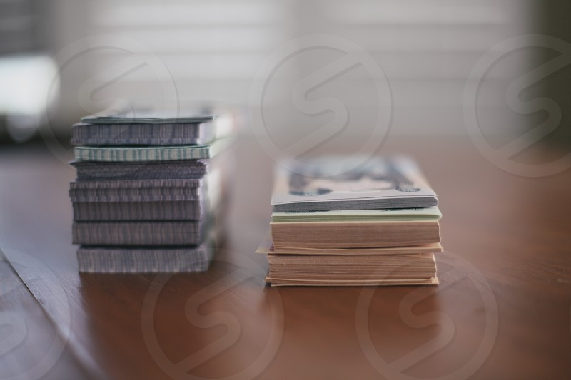 stacks of paper macro photography photo